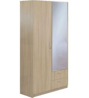 Шкаф Эконом 2х дверный  с зеркалом