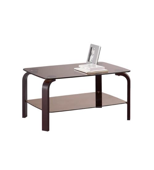 Стол журнальный со стеклом (гнутая нога)