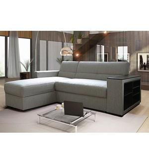 Угловой диван Виктория 2-1 боковина с полкой